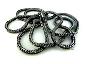 "36"" Black Tone Franco Chain - 4mm"