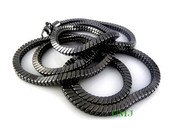"36"" Black Tone Snake Chain - 6mm"