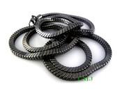 """36"""" Black Tone Snake Chain - 6mm"""