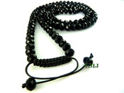"Black Lab Made Disco Ball 10mm Bead Chain (Adjustable 28""-34"")"