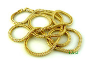 "36"" Gold Plated Franco Chain - 4mm"
