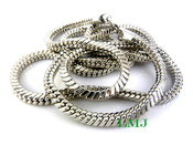 "36"" Silver Tone Snake Chain - 6mm"