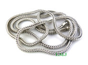 "36"" Silver Tone Franco Chain - 4mm"