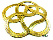 "30"" Gold Plated Thick Herringbone Chain - 8mm wide (Clear-Coated)"