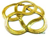 "30"" Gold Plated Thick Herringbone Chain - 8mm wide (Clear-Coated)"