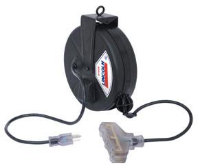 Lincoln Light Duty Triple Power Cord Reel 30'