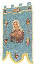 Sacred Heart of Mary Processional Banner