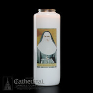 6-Day Glass BottleLight Candle. Non-reusable.  Candles can be purchased individually or as a case (12 candles)