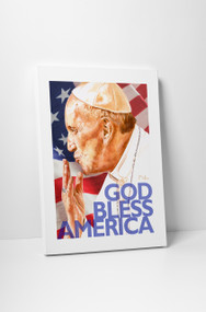 Perry Milou Artwork- Pope Francis God Bless America