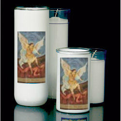 3, 5/6/7 Day Reusable Glass Globe ~ Full color image, produced on highly durable film.  For use with Inserta Lites. Globes are sold Individually or by the case (Box of 12) - Please make selection. Inserta Lite Candles are purchased separately
