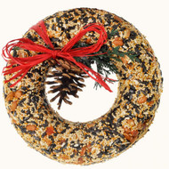 "A delectable 8"" round wreath treat for your favorite backyard birds!"