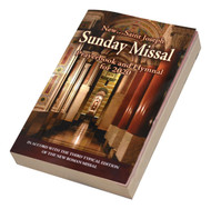 "Saint Joseph Sunday Missal.  This is the most popular and economical ANNUAL Missal for parish participation. Contains the complete Masses for all Sundays and Holy days from the beginning of Advent through the Solemnity of Our Lord Jesus Christ, King of the Universe. and Hymnal for 2020. There are no distracting skips or jumps to other pages as in weekly or monthly leaflets. Each Sunday's Prayers, Readings and Responses are kept together in ""continuous"" fashion for easier use and understanding. Features: Order of the Mass (Ordinary)in Two Colors and Large Type, People's Parts in Bold Type for Quick Identification, Updated Hymnal Section Containing over 90 Popular Hymns, Treasure of Prayers, ...for Confession, Communion etc., Now includes such popular hymns as ""I Am the Bread of Life,"" ""All Are Welcome,"" ""Eye Has Not Seen,"" ""We Walk by Faith,"" and ""Taste and See.""Handy size-fits in your pocket or purse, and Missal has a Laminated Cover! 4 1/8"" x 6 1/2"" ~ 672 pages"