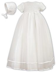 Elegant christening gown w/ matching bonnet.