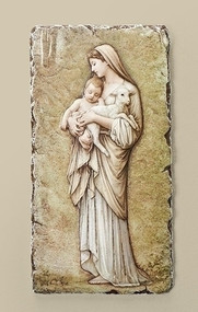 """Innocence"" Plaque measures 8""H x 4""W and is made of a resin/stone mix."