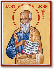 "St. John, the son of Zebedee, and the brother of St. James the Great, was called to be an Apostle by our Lord in the first year of His public ministry. He became the ""beloved disciple"" and the only one of the Twelve who did not forsake the Savior in the hour of His Passion. He stood faithfully at the cross when the Savior made him the guardian of His Mother. His later life was passed chiefly in Jerusalem and at Ephesus. He founded many churches in Asia Minor. He wrote the fourth Gospel, and three Epistles, and the Book of Revelation is also attributed to him. Brought to Rome, tradition relates that he was by order of Emperor Dometian cast into a cauldron of boiling oil but came forth unhurt and was banished to the island of Pathmos for a year. He lived to an extreme old age, surviving all his fellow apostles, and died at Ephesus about the year 100."