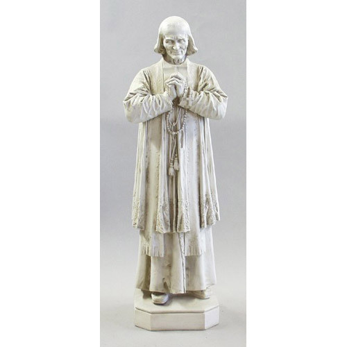 """Fiberglass indoor statue. Dimensions: 17.0""""W x 13.0""""Dx  50.0""""H. Prices based on white or colored statue.  Please call 1 800 523 7604 for all other finish styles, shipping costs and pricing.  Statues are custom made Please allow at 4-8 weeks for delivery."""