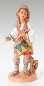 "Fontanini 5"" scale, Jareth the Drummer Boy. Polymer Resin."