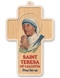 "5"" Saint Teresa of Calcutta Laser Engraved Dimensional Cross. (Made in Italy)"