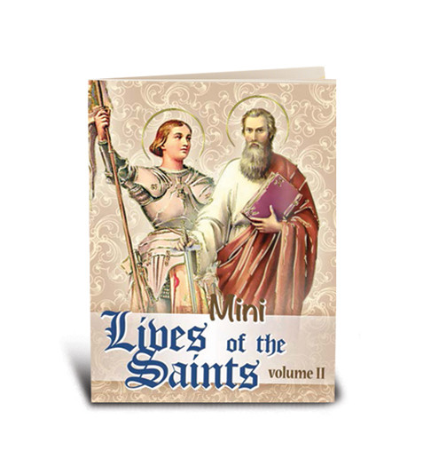 """My Little Prayer Book Lives of the Saints Volume II ~ Featuring 32 Saints. Book of Prayers and small story.  Full color Bonella Art! Dimensions: 2 3/4"""""""" x 3 1/2"""" with 64 pages."""