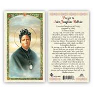 St. Josephine Bakhita Laminated Holy Card. Prayer to St. Josephine on back of card.