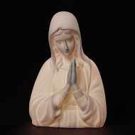 "7""H LED Praying Madonna Porcelain Table Night Light. Plug in."