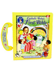 This board book Bible is beautifully illustrated with peek-through windows, and has sold well over 1 million copies. It contains a treasury of Bible stories beginning with Creation and ending with the Resurrection. It has been edited for the Catholic market, and contains Catholic Scriptures.  Dimensions: 6 1/2 X 7 3/4 ~ 20 pages