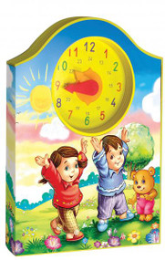This unique St. Joseph Clock Book combines short prayers with a clock whose hands make a clickety sound as they are moved. The engaging, colorful, whimsical illustrations will attract children and encourage them to learn their numbers and begin to tell time. The brightly colored EVA is lightweight and the design will make it easy for children to carry along. 12 pages, 7 7/8 X 10 5/8 ~ Illustrated and Padded Cover