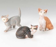 Fontanini Nativity, 3 pc Cats, 5 inch Scale