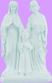 White 8 inch Holy Family - Each religious piece is carefully crafted and the plastics are molded in an exclusive process for years of lasting use.  Comes boxed