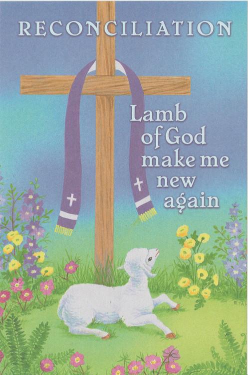 """Reconciliation bulletin. """"Lamb of god Make Me New Again"""".  100 per Box"""