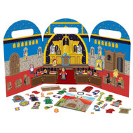 "My Little Church Magnet Play Set-Learn and play along during Catholic Mass or at home with our illustrated, 38-piece magnet book! A totable vinyl bag holds the board, magnets and a handy instructional booklet. Ecclesiastically Approved. Ages: 3+, dimensions: 8x12"" when folded. All pieces store in sturdy vinyl bag. Instructional Booklet included"