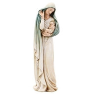 "Madonna with Child 12"" statue made of stone/resin mix."