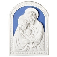 "7.75""H Della Robbia Holy Family Plaque.  Made of Resin."
