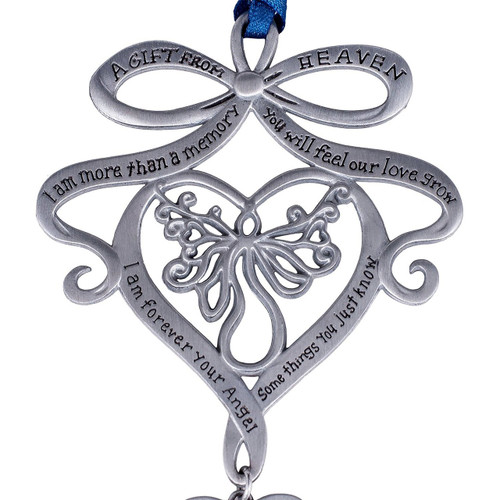 "Pewter Chime is approximately 9"" long and included is a Gift from Heaven Poem Bookmark. Comes packaged in silver gift box"