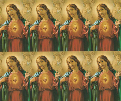 """2.5"""" X 4"""" Paper holy cards. 8 cards per sheet, Minimum order is 24 cards (3 sheets). Blank back to add your personalized inscription. Cards can be laminated for an additional cost."""