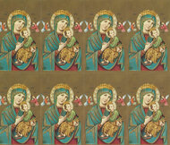 "Our Lady of Perpetual Help personalized Prayer Cards from the Bonella Line. Bonella artwork is known throughout the world for its beautiful renditions of the Christ.  8 1/2"" x 11"" sheets with tab that separates into 8- 2 1/2"" x 4 1/4""  cards that can be personalized and laminated at an additional cost.  ( Price per sheet of 8)"