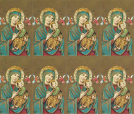 "Our Lady of Perpetual Help. The Bonella Line of prayer cards are imported from Milan, Italy.  A personalized prayer card is the perfect memento of your special occasion. Add your favorite prayer and message, and you will have a unique and treasured keepsake. Micro-Perforated. Sheet size is 8 1/2"" x 11"".  Card size is 2 1/2"" x 4 1/4"" each.  Must order in multiples of 8. Price includes personalized message.  Lamination at an additional charge."