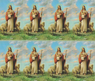 "The Good Shepherd 8-UP Microperforated Holy Cards.Sheet measures 8.5"" x 10"". Individual cards measure 2.5"" X 4"". 8 cards per sheet. Blank back to add your personalized inscription. Can be laminated for an additional cost."