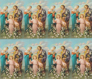 "The Holy Family personalized Prayer Cards are from the Bonella Line. Bonella Artwork is known throughout the world for its beautiful renditions of the Christ, Blessed Mother and the Saints. 8 1/2"" x 11"" sheets with tab that separates into 8- 2 1/2"" x 4 1/4"" cards that can be personalized and laminated at an additional cost.  ( Price per sheet of 8)"