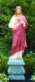 Statue of Sacred Heart of Jesus.