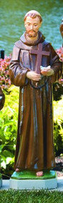 "St Francis 101533 Height 32"" Base: 8.5"" Sq Weight: 59 lbs  Allow 3-4 weeks for delivery.  Made in the USA! Please call for shipping prices!"