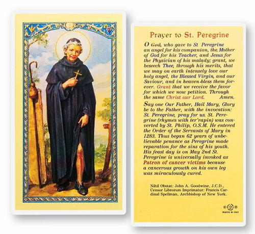 St peregrine novena prayerpatron saint of cancer st jude shop novena prayer to st peregrine clear laminated italian holy card with gold accents thecheapjerseys
