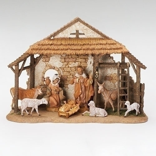 "Fontanini Polymer 5"" Scale Nativity 8 Pieces from the Centennial Collection."