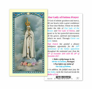 Prayer To The O.L. Of Fatima 100Th Anniversary Holy Card.