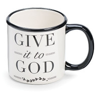 "2.5"" Porcelain ""Give It to God"" 20oz mug. Have faith, let go and let God take over!"