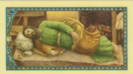 Sleeping Joseph Laminated Holy Card