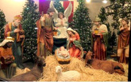 "49"" Indoor or Outdoor 12 piece Nativity is made of fiberglass and resin construction with outdoor paint. Full round traditionally colored fiberglass figures with removable Jesus. Breathtakingly beautiful detail makes this traditional, fiberglass nativity an elegant edition to your Church or home decor! 41"" Camel for the set is sold separately. (Item #53420)"