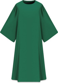 "This Dalmatic is made from Elias fabric and is part of the Assisi series and comes in Purple, Green Red and Ecru.  Complements Chasuble 701001. Elias fabric is 100% polyester and is lightweight and durable.  Measurements: 53""L x 63""W;.  Care instructions: Wash in warm suds, rinse well, do not wring. Hang wet to dry, no ironing needed. Please supply your Intitution's Federal ID # as to avoid an import tax. Please allow 3-4 weeks for delivery if item is not in stock as it is shipped from overseas."