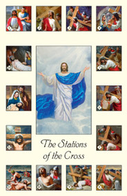 "Stations of the Cross Holy Cards. Cards measure 2 3/4"" x 4 1/4"". They are ideal for children. Stations of the Cross text on the back.  Stations written on back of card."