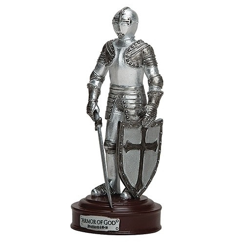 """This 7"""" Shining Knight in Armor represents and reminds us about the """"protective gear"""" needed for protection against all temptations! Based on Ephesians 6: 10-18"""